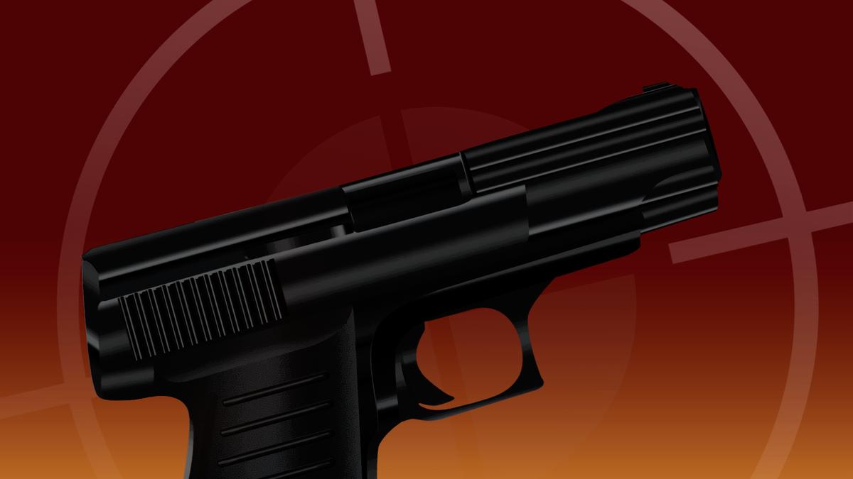 A gun and target symbol.
