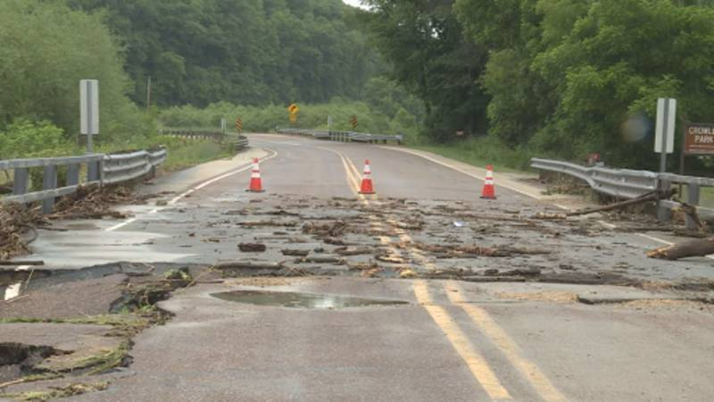 County officials estimate that there is over $290,000 in public infrastructure damage