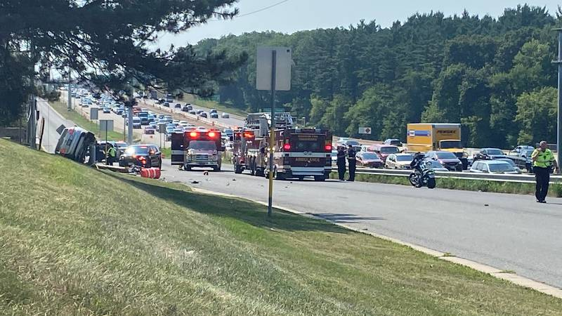 West Beltline crash leads to power outage, backup