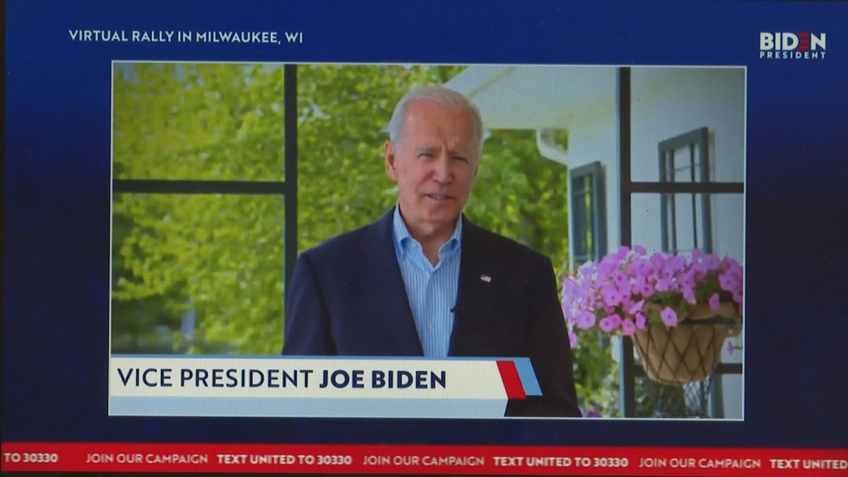 Presidential candidate Joe Biden has been using technology to continue his campaign around the...