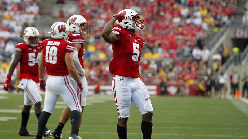 Wisconsin cornerback Rachad Wildgoose (5) against against Michigan during the second half of an...