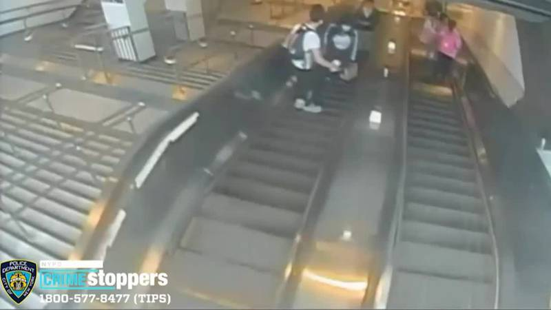 An arrest has been made in an assault on a New York City escalator that was caught on camera....