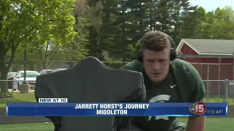 Jarrett Horst practicing at Middleton high school