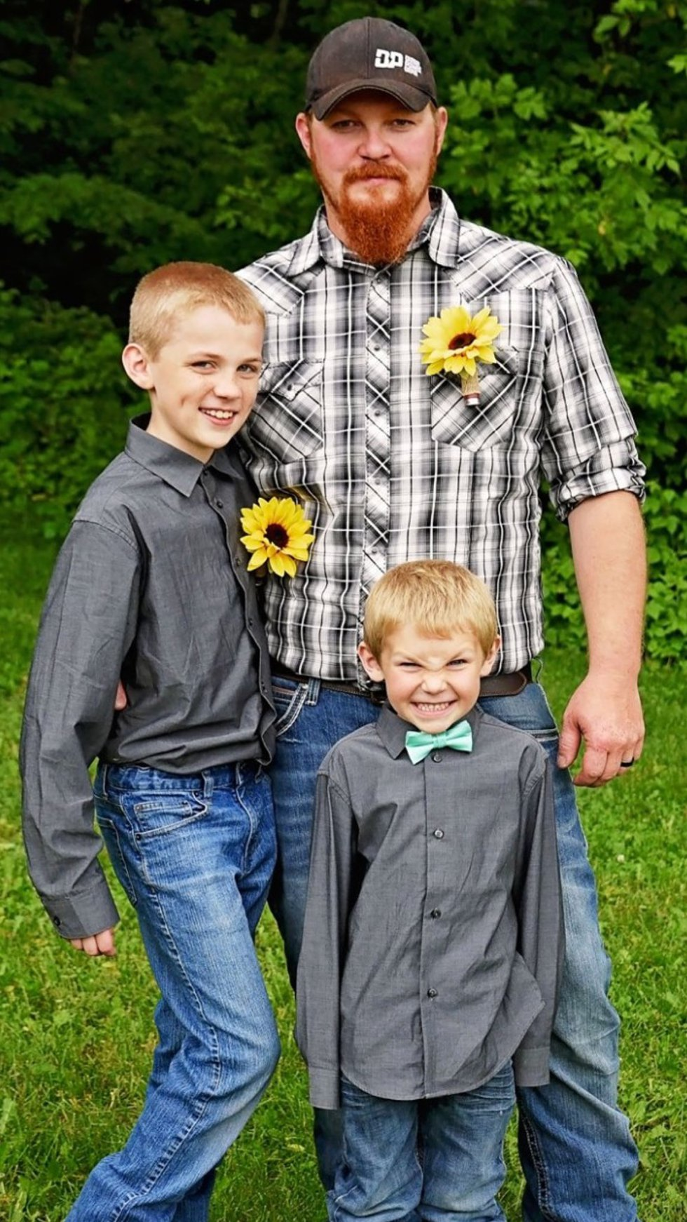 James Chrislaw is pictured here with his two sons
