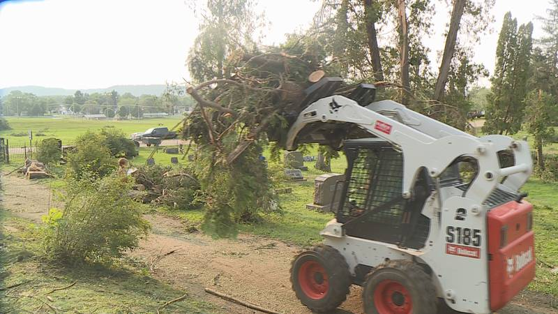 Grant County Emergency Management and volunteers say it could take two weeks to finish cleaning...
