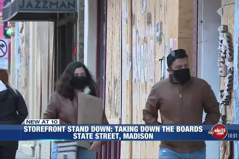 State Street businesses take down boards