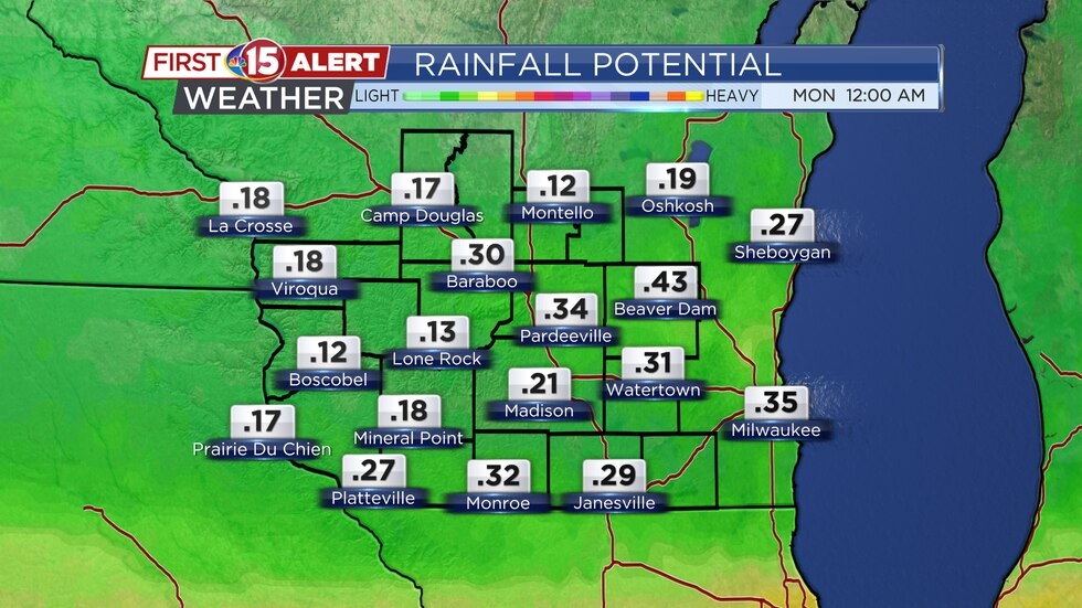Rainfall Potential - Tuesday - Sunday