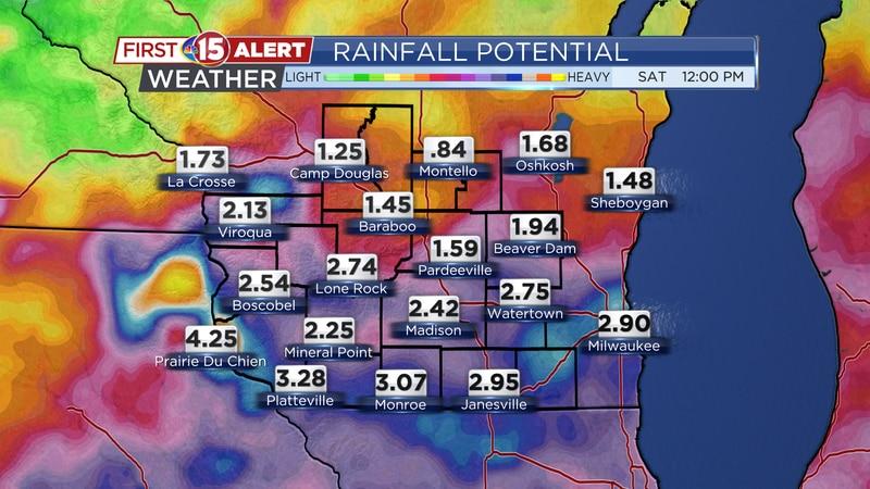 Rainfall Potential Thursday - Saturday Morning
