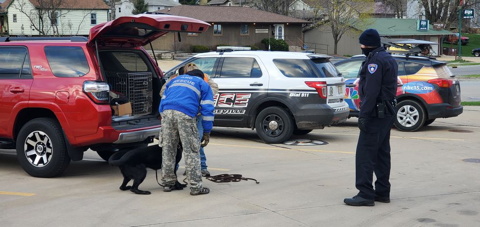 Police are beginning a K-9 unit search on East Springs and North Main St. for the missing...