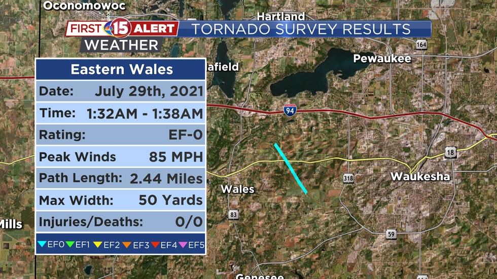 Tornado Survey Results - Eastern Wales Tornado 7/29/2021