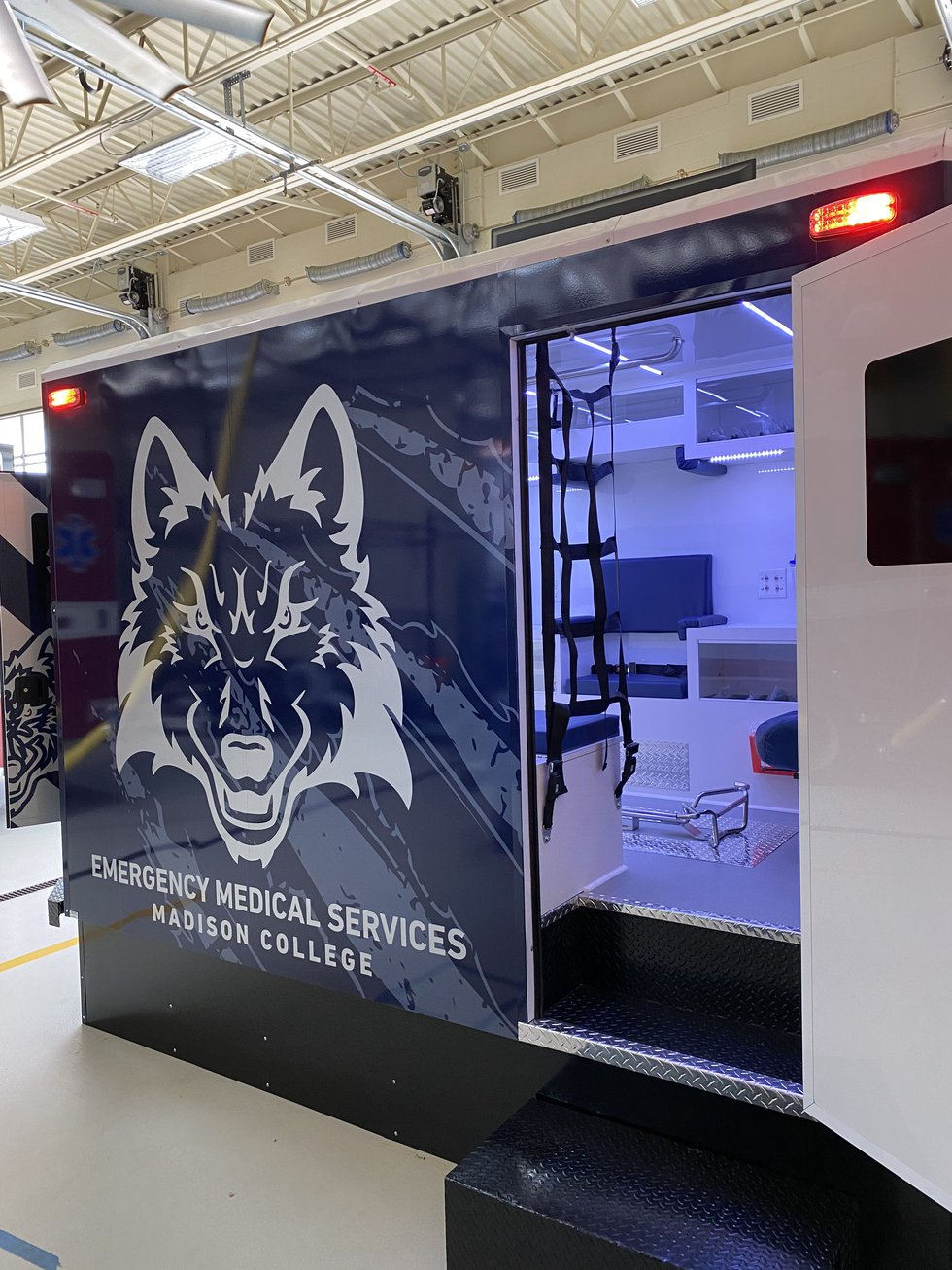 One of four new simulated ambulances Madison College Emergency Medical Services students will...