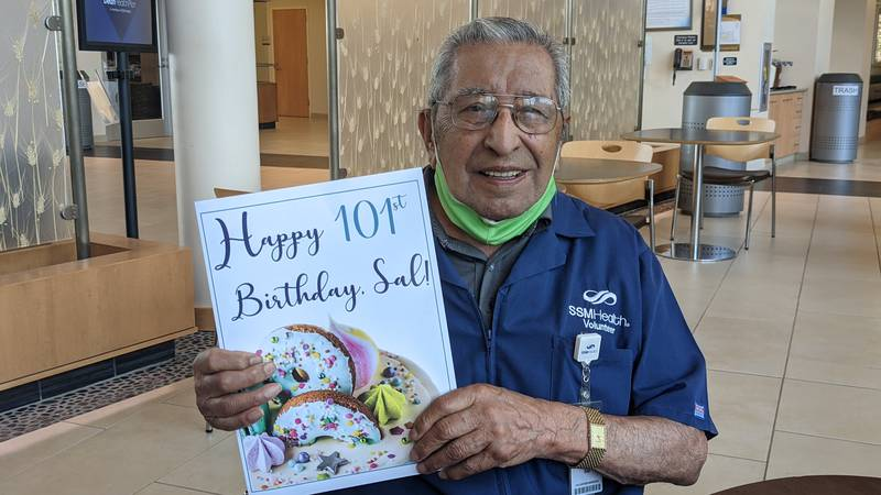 Sal Perce receives special surprise for 101st birthday