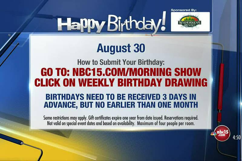 Birthdays for Monday, August 30