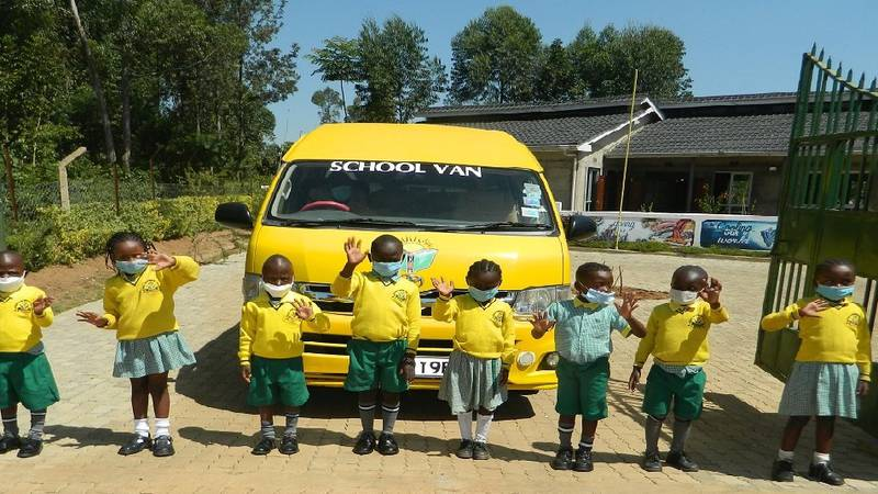 This is the van currently being used to transport students at the Kijana Global Innovation...