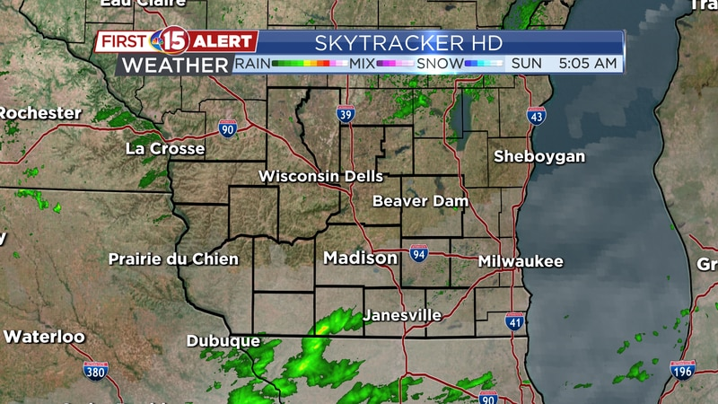 Showers Move North