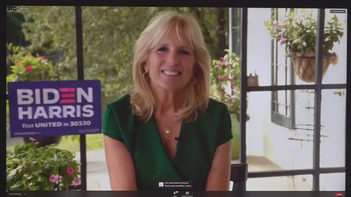 Jill Biden urged Virginia women to throw their full support behind the Democratic ticket, during a virtual campaign event Monday