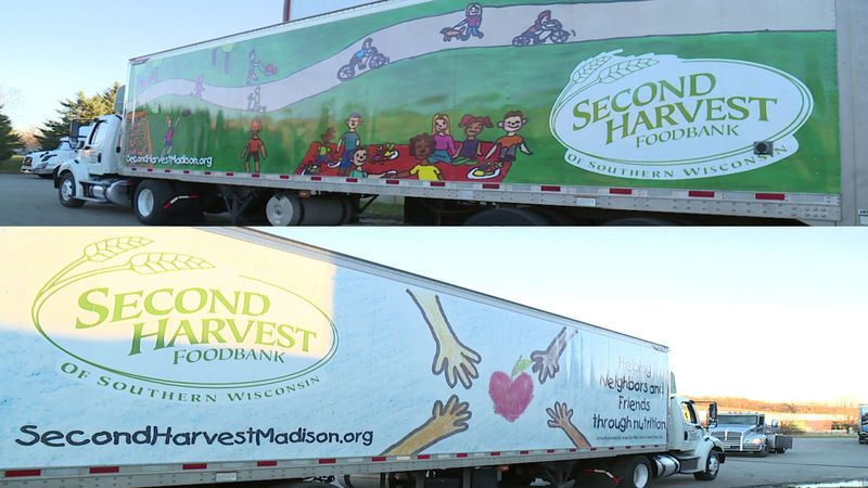 """Two winners were chosen for Second Harvest Foodbank of Southern Wisconsin's """"Wrap our Ride""""..."""