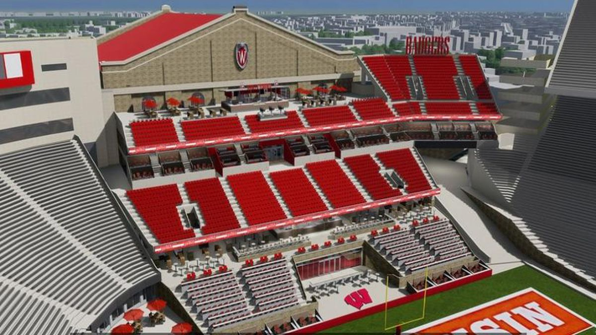 Conceptual rendering of the south end zone at Camp Randall. Once an architect is selected the official design process will begin and new renderings will be released as they become available. Courtesy: Wisconsin Athletics