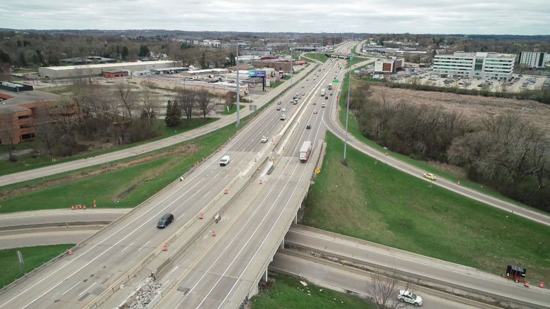 Traffic moves along HWY 12 in Madison