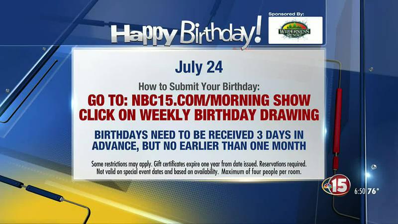 Birthdays for Saturday, July 24