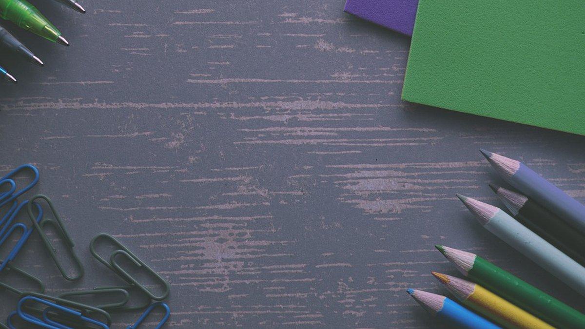 pencils, notebooks, paper clips, pens