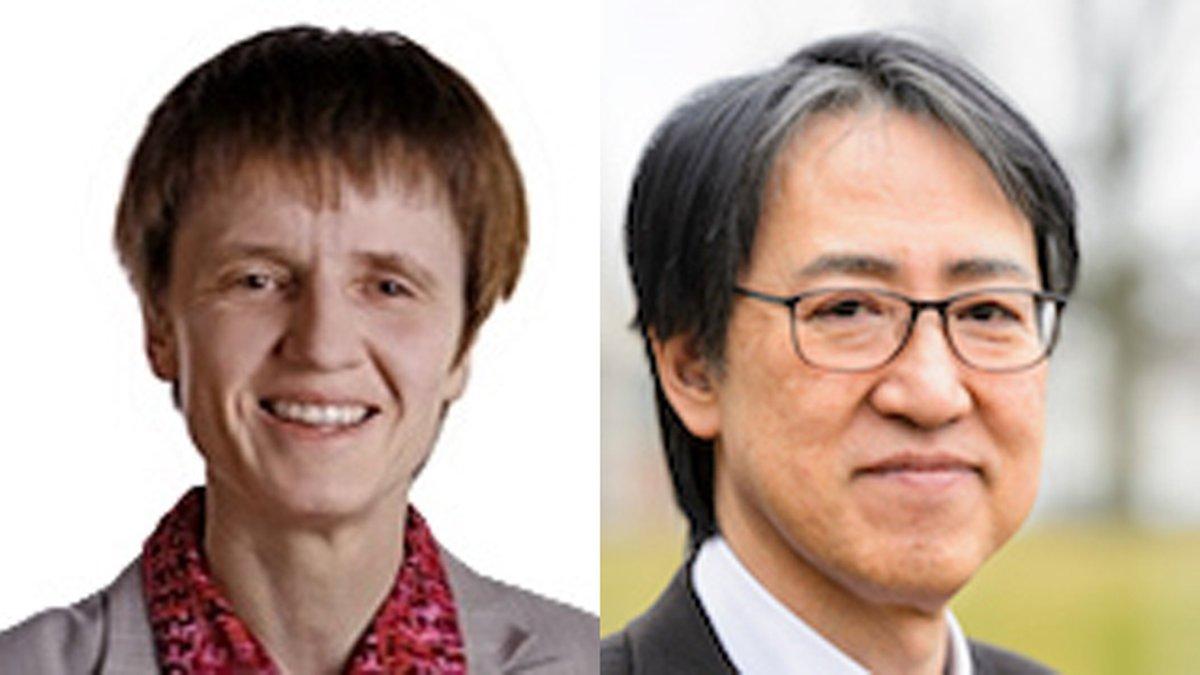 Gabriele Neumann (left) and Yoshihiro Kawaoka (Photo by UW-Madison)