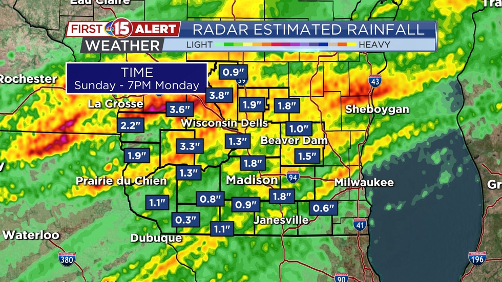 Radar Estimated Rainfall Totals