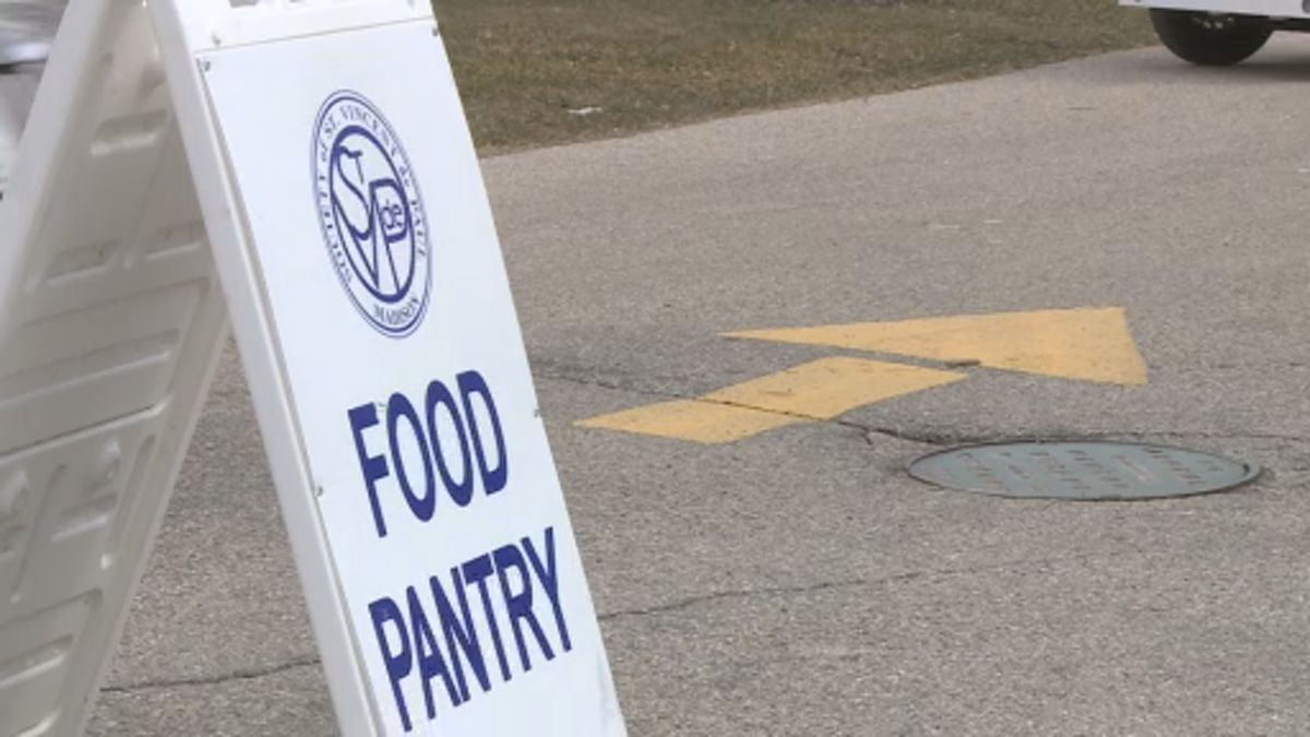 St. Vincent de Paul Food Pantry has begun drive-up operations to assist families in need. (WMTV)