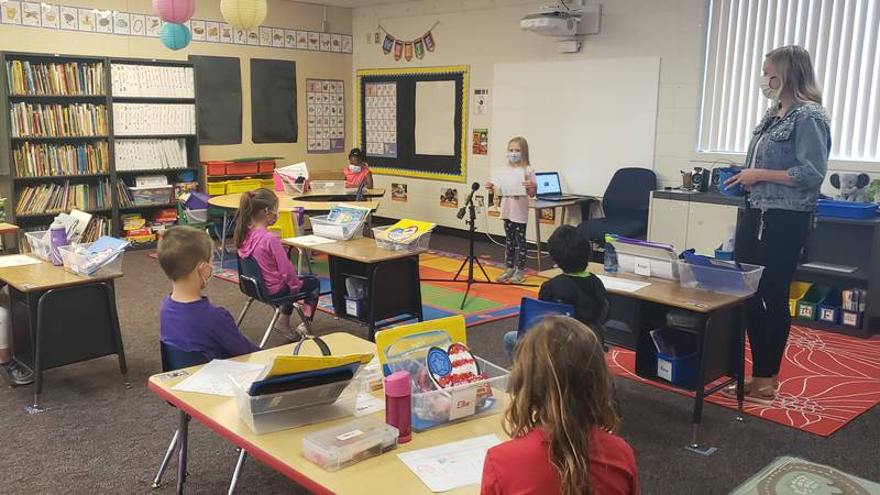 Kindergartners are having some of their last days in Mrs. Amy Blake's classroom.