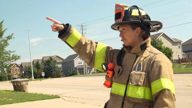 Madison Firefighter/Paramedic Academy student Allie Feys