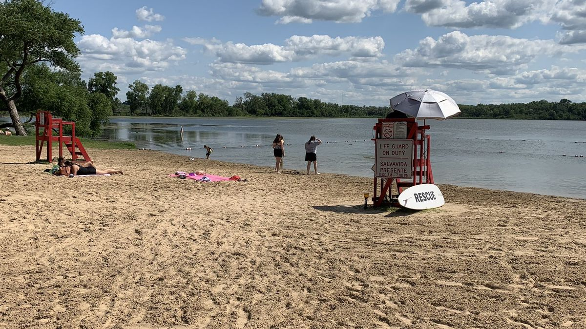 A beach in Madison, Wis.