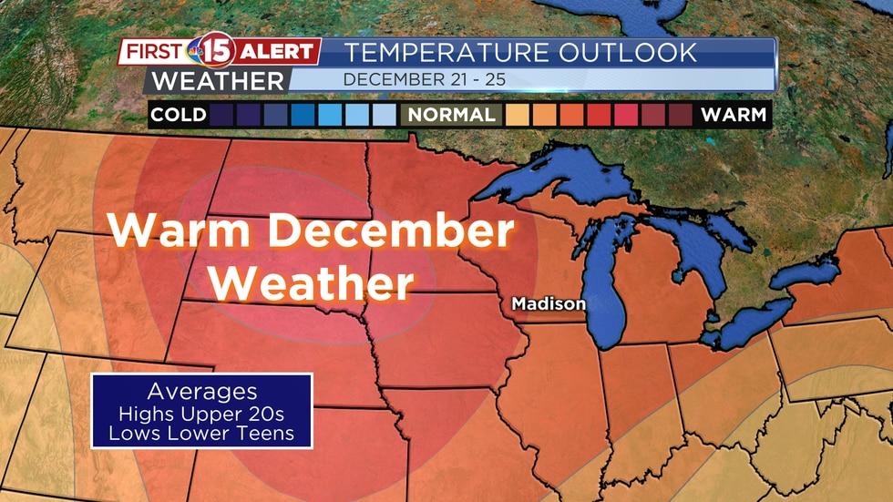 Temperature Outlook - December 21 - 25