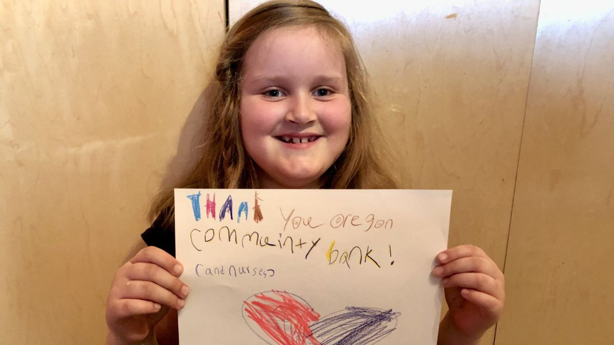 "Morgan Marsh-McGlone says ""thank you"" to everyone who has donated through her virtual lemonade stand."