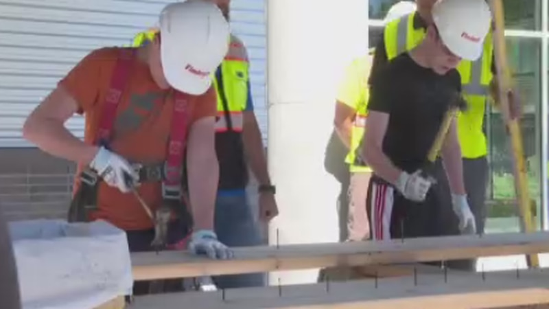 Findorff held a Construction Camp Monday to teach middle and high school students about careers...