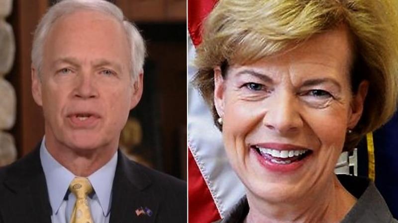 Wisconsin senators Ron Johnson and Tammy Baldwin (Source: WMTV)