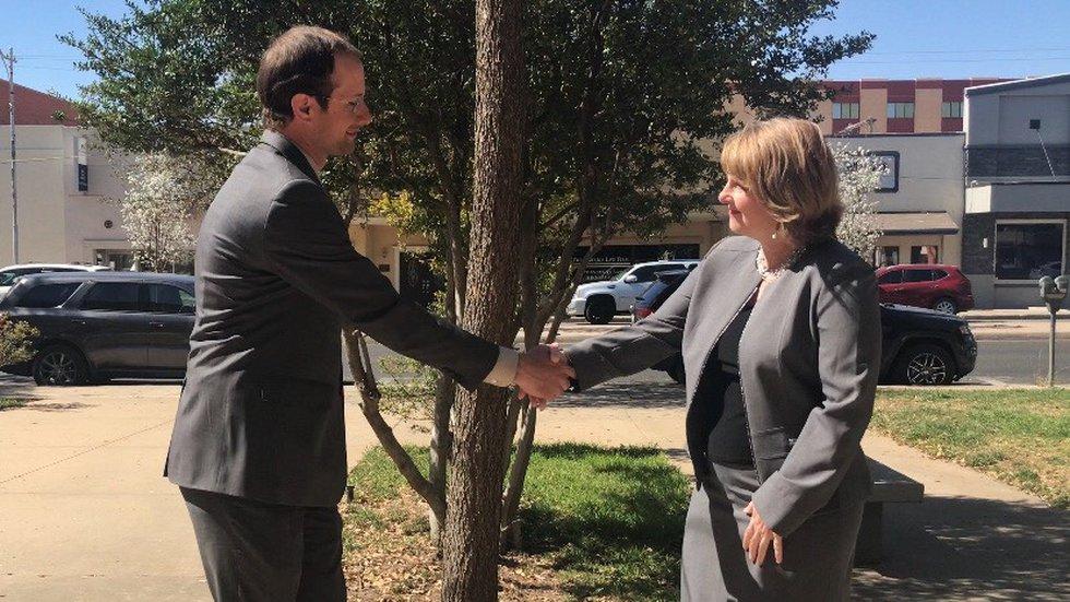 Classic handshake greeting