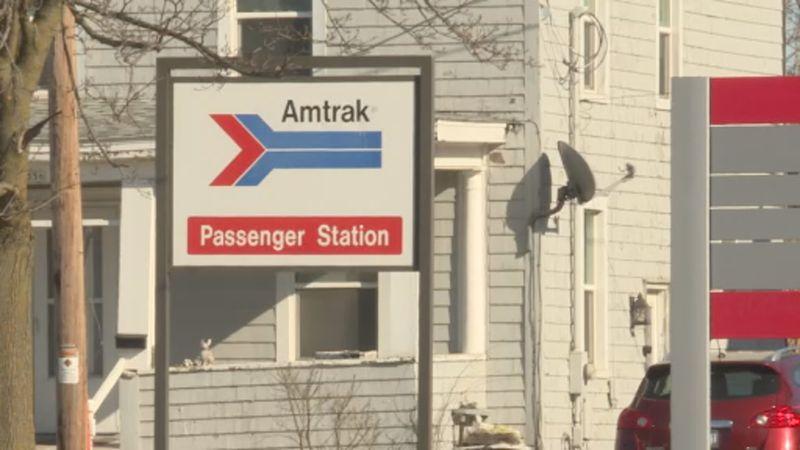 Amtrak station in Columbus, Wis.
