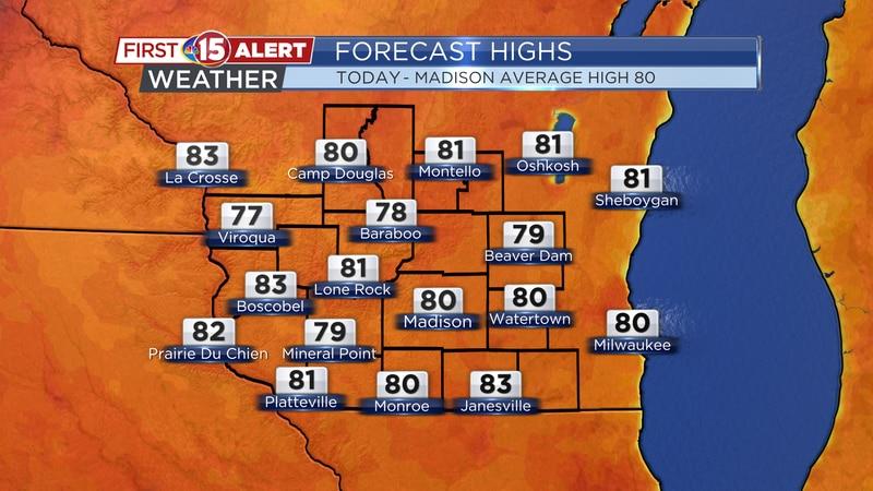 Forecast Highs - Sunday
