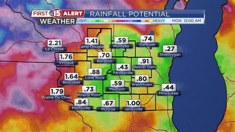 Rainfall Forecast Thursday - Sunday
