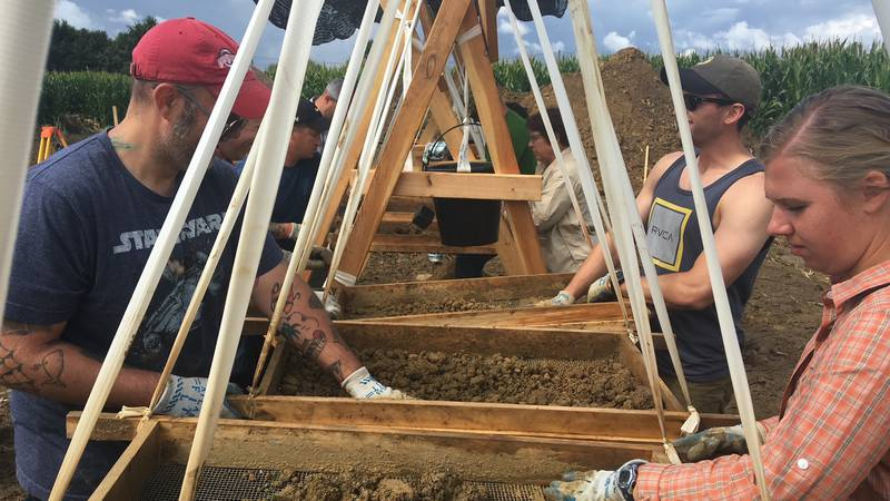 UW MIA RIP volunteers search for wreckage and remains at the crash site of Lt. Frank Fazekas,...