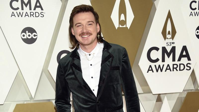 FILE - Morgan Wallen arrives at the 53rd annual CMA Awards on Nov. 13, 2019, in Nashville, Tenn.