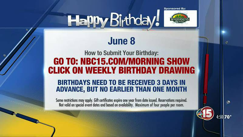 Birthdays for Tuesday, June 8