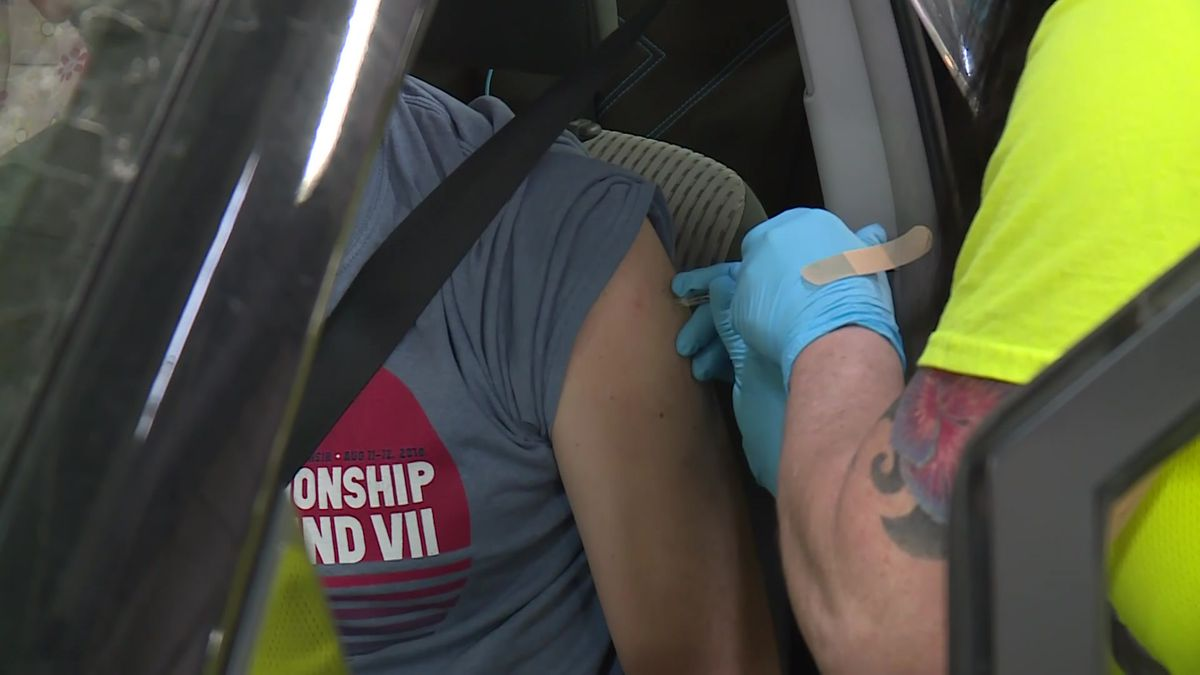 Public Health Madison & Dane County hosted a mass vaccination clinic at the Alliant Energy...