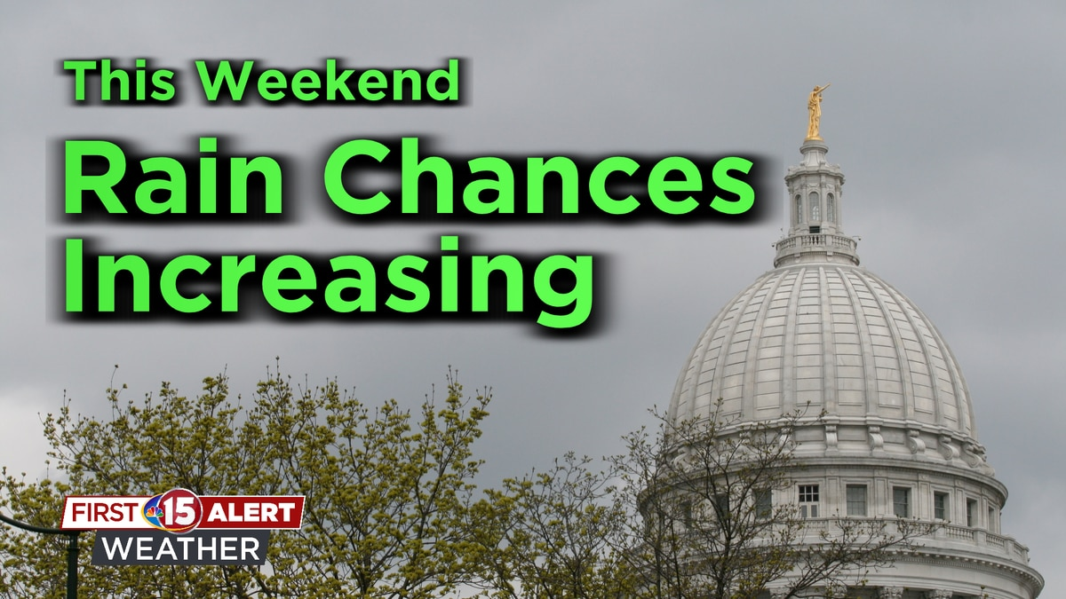 Isolated showers Saturday will give way to on and off rain Sunday.