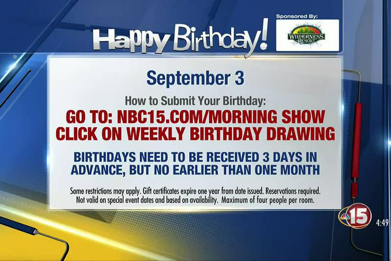 Birthdays for Friday, September 3