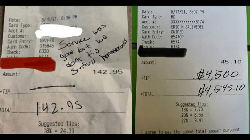 Do Good Wisconsin surprises Madison server with large tip after a previous customer left them a...