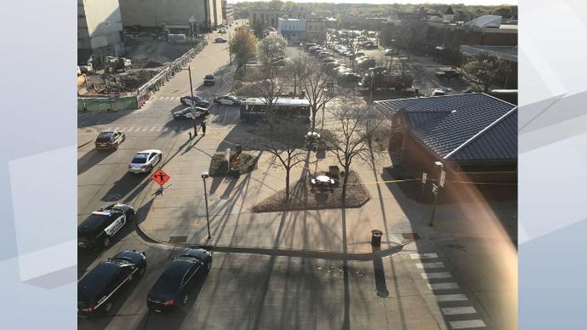 View overlooking Appleton Transit Center (WBAY photo)