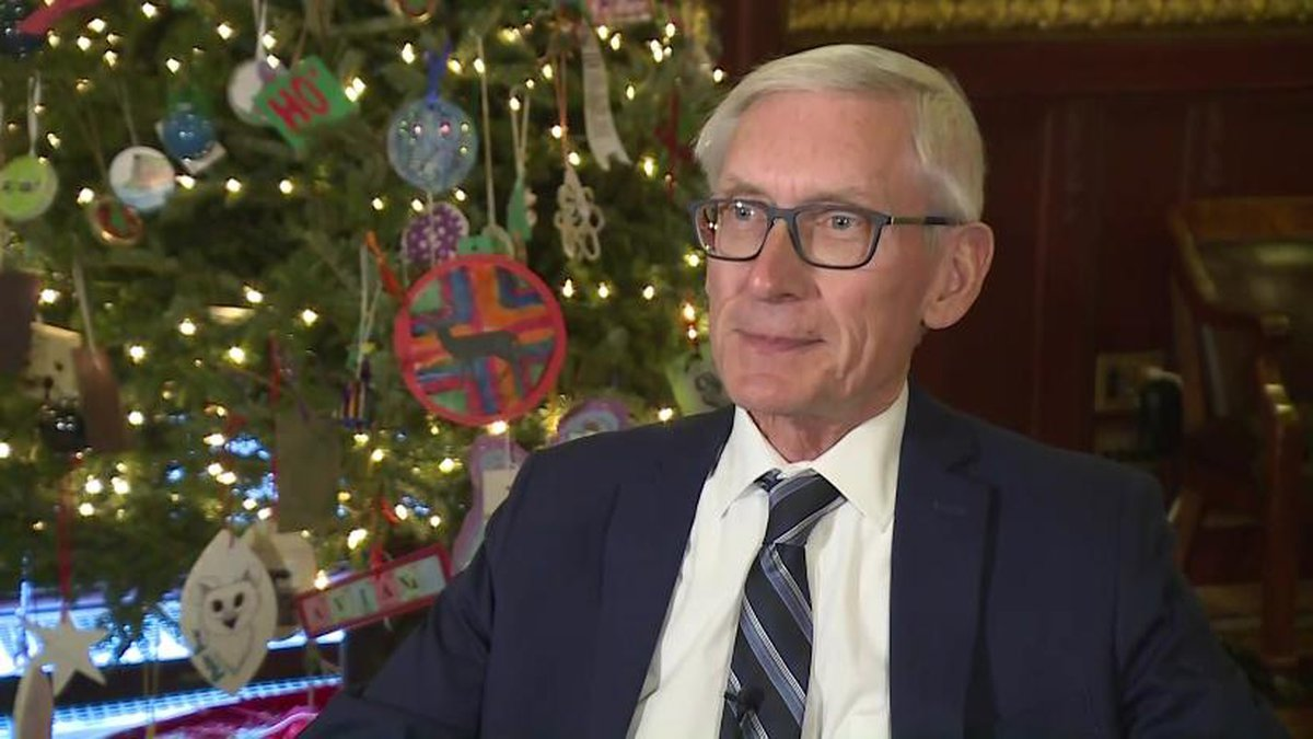 Gov. Evers speaks about his goals for 2020 and reflects on his first year in office. (WMTV)
