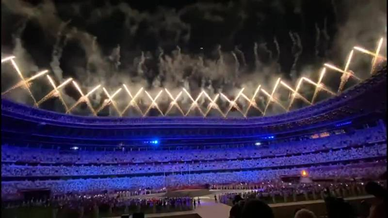 A fireworks display closed out the 2020 Tokyo Olympics.