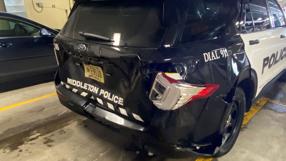 A Middleton Police Department squad car was hit by an alleged drunk driver.